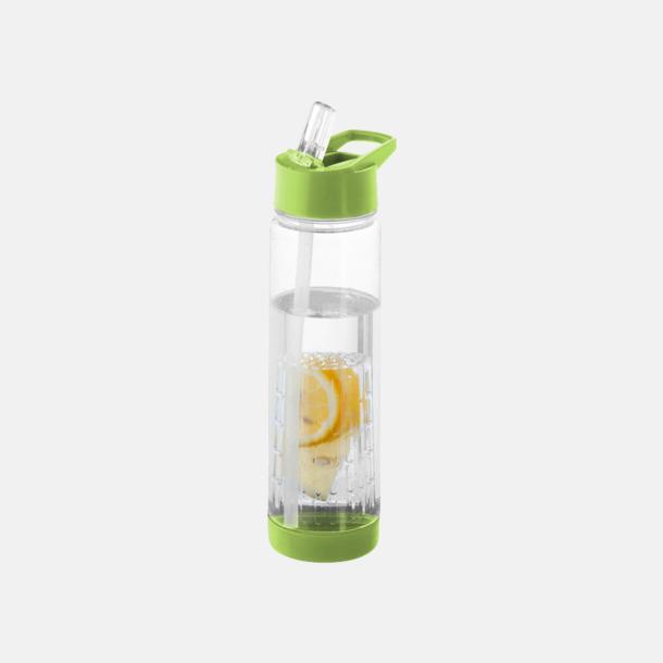 Limegrön Vattenflaska med kolv för smaksättning - med reklamtryck