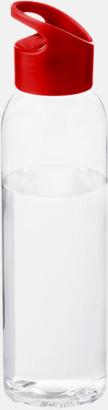 Röd / Transparent Bärvänliga vattenflaskor i tritan med reklamtryck