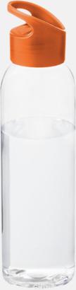 Orange / Transparent Bärvänliga vattenflaskor i tritan med reklamtryck
