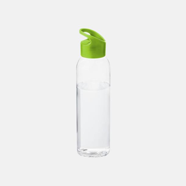 Limegrön / Transparent Bärvänliga vattenflaskor i tritan med reklamtryck