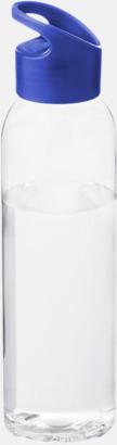Blå / Transparent Bärvänliga vattenflaskor i tritan med reklamtryck