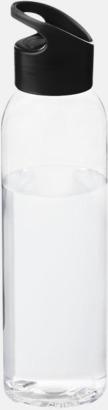 Svart / Transparent Bärvänliga vattenflaskor i tritan med reklamtryck