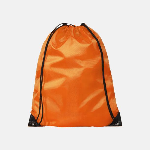 Orange (PMS 1585C) Billiga gympapåsar med reklamtryck