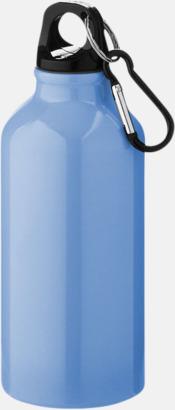 Ljusblå (PMS 284C) Sportflaska i rostfritt stål med reklamtryck