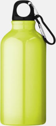Neongul (PMS 388C) Sportflaska i rostfritt stål med reklamtryck