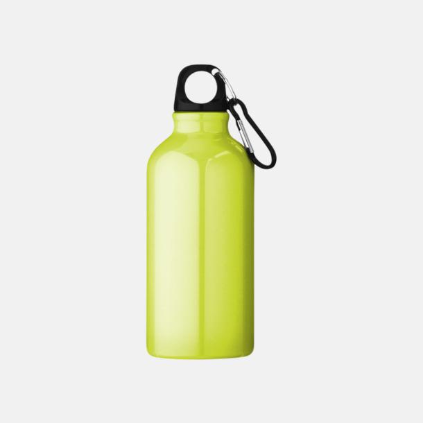 Neongul (PMS 388C) Billig vattenflaska aluminium med egen logo