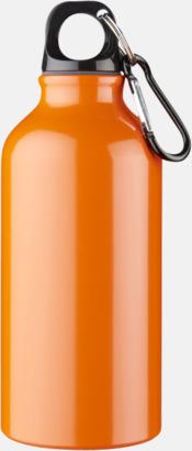 Orange Sportflaska i rostfritt stål med reklamtryck