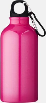 Rosa (PMS 7424C) Sportflaska i rostfritt stål med reklamtryck