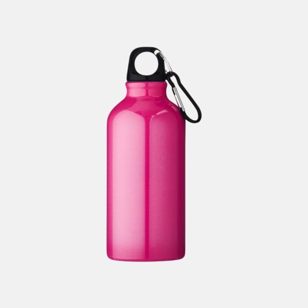 Rosa (PMS 7424C) Billig vattenflaska aluminium med egen logo
