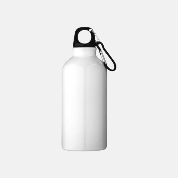 Vit Billig vattenflaska aluminium med egen logo