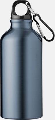 Marinblå (PMS 444C) Sportflaska i rostfritt stål med reklamtryck