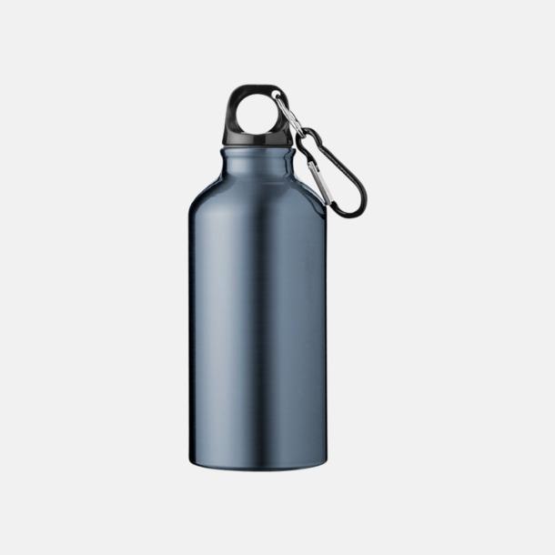 Marinblå (PMS 444C) Billig vattenflaska aluminium med egen logo