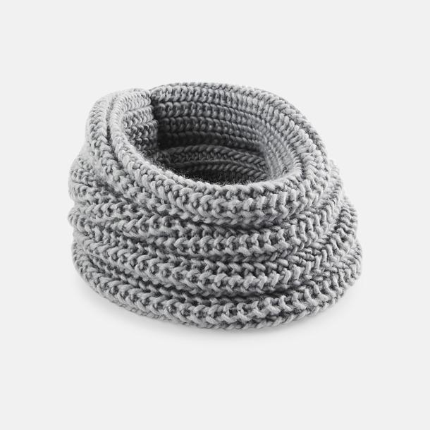 Glacier Grey Rundstickade halsscarfs med reklamlogo