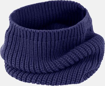 Marinblå Huva & scarf i ett - med reklamlogo