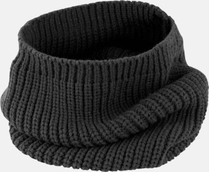 Svart Huva & scarf i ett - med reklamlogo