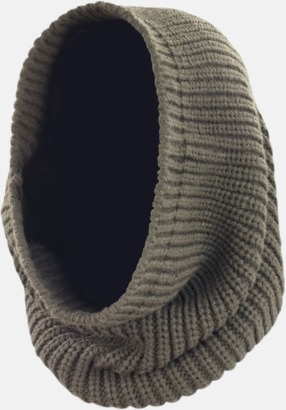 Huva & scarf i ett - med reklamlogo