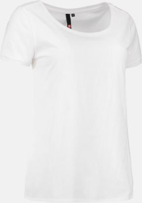 Vit (dam) Snygga bas t-shirts med reklamtryck