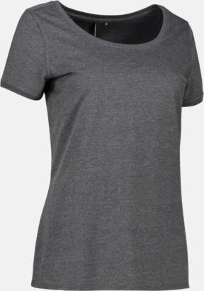 Charcoal (dam) Snygga bas t-shirts med reklamtryck