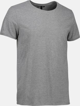 Grey Melange (herr) Snygga bas t-shirts med reklamtryck
