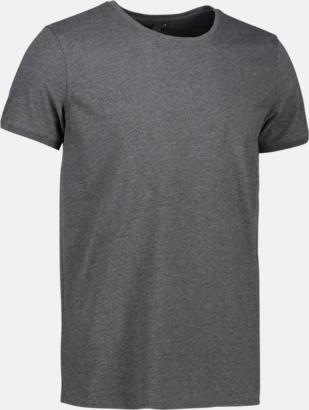 Charcoal (herr) Snygga bas t-shirts med reklamtryck