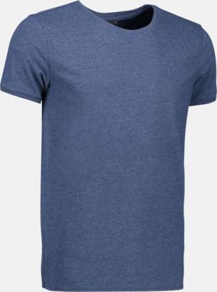Blue Melange (herr) Snygga bas t-shirts med reklamtryck