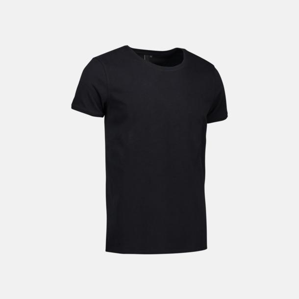 Svart (herr) Snygga bas t-shirts med reklamtryck