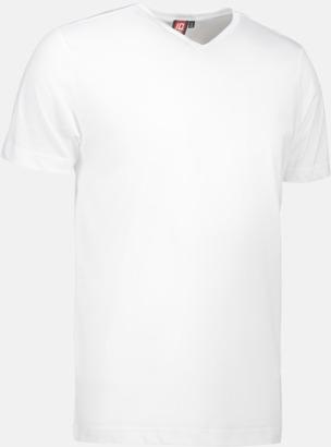 Vit Herr t-shirts med reklamtryck