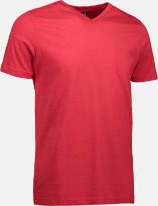 Röd Herr t-shirts med reklamtryck