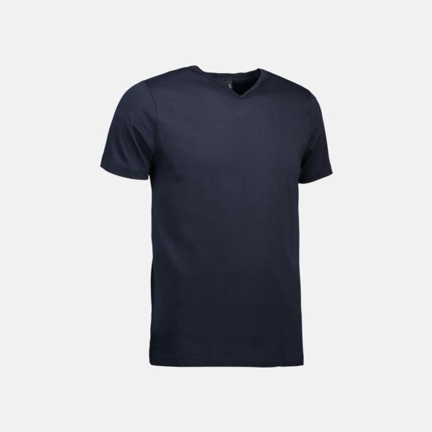 Marinblå Herr t-shirts med reklamtryck