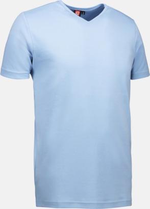Ljusblå Herr t-shirts med reklamtryck