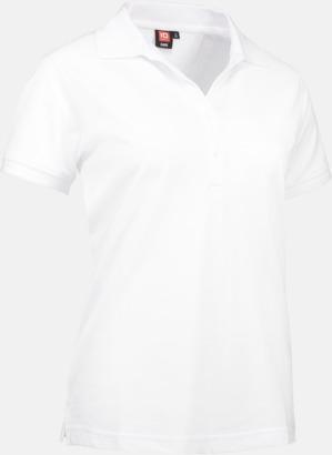 Vit (dam) Pikétröjor för herr & dam med reklamtryck