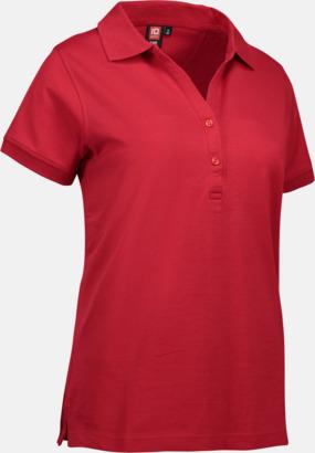 Röd (dam) Pikétröjor för herr & dam med reklamtryck