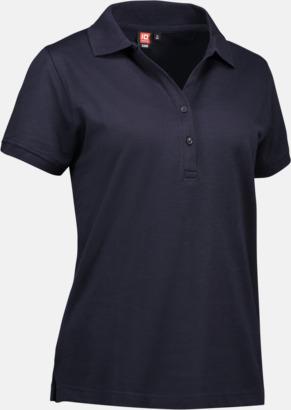 Marinblå (dam) Pikétröjor för herr & dam med reklamtryck