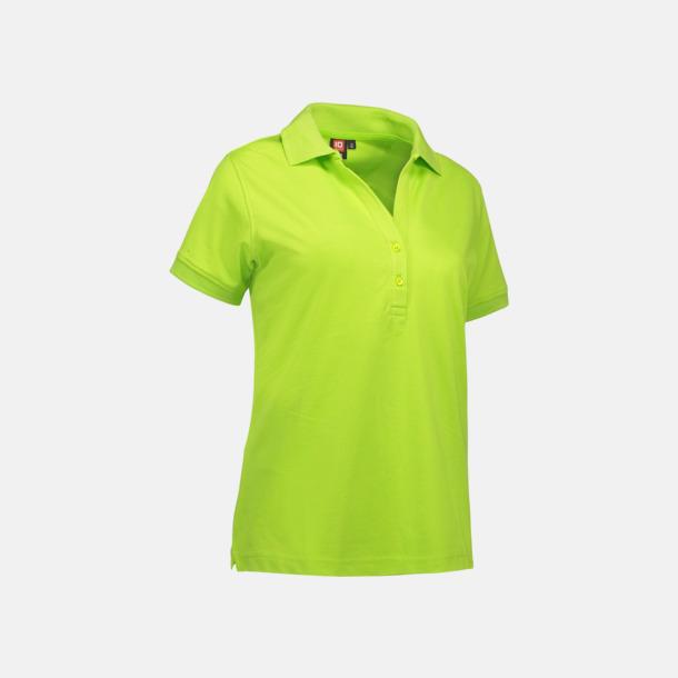 Limegrön (dam) Pikétröjor för herr & dam med reklamtryck