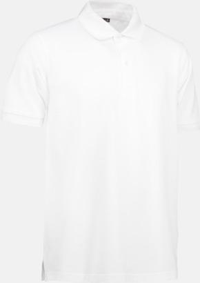 Vit (herr) Pikétröjor för herr & dam med reklamtryck