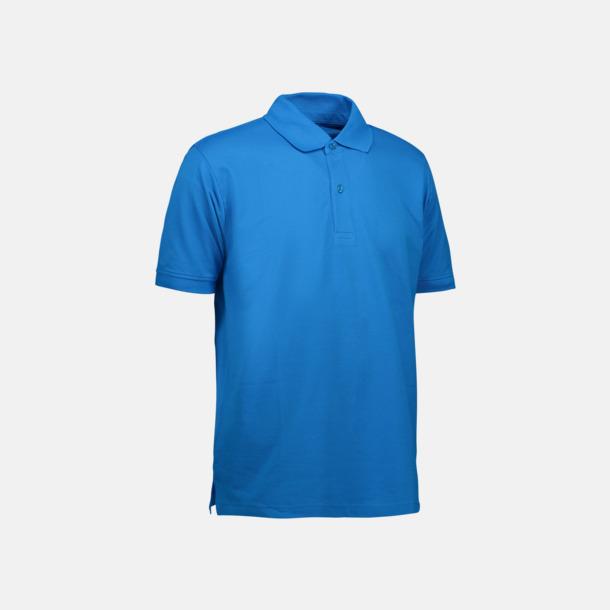 Turkos (herr) Pikétröjor för herr & dam med reklamtryck
