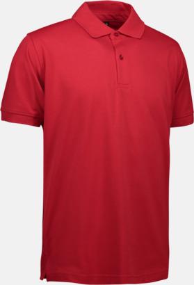 Röd (herr) Pikétröjor för herr & dam med reklamtryck