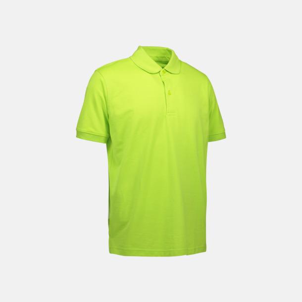 Limegrön (herr) Pikétröjor för herr & dam med reklamtryck