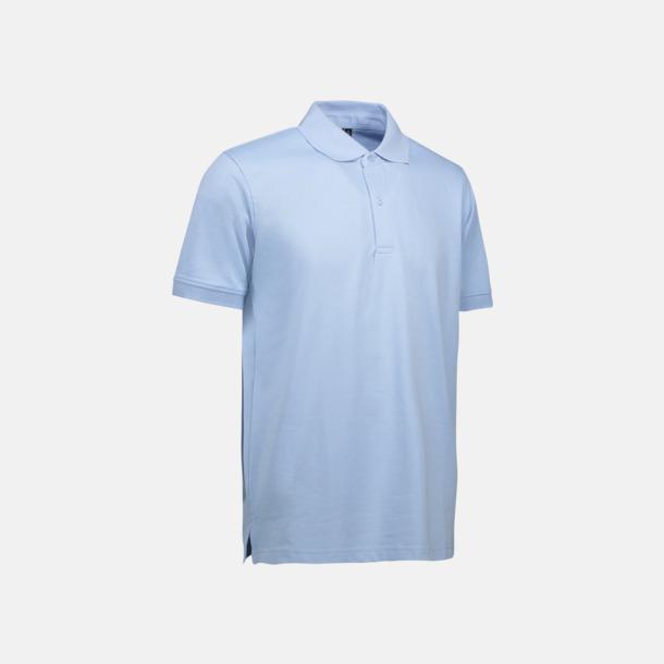 Ljusblå (herr) Pikétröjor för herr & dam med reklamtryck