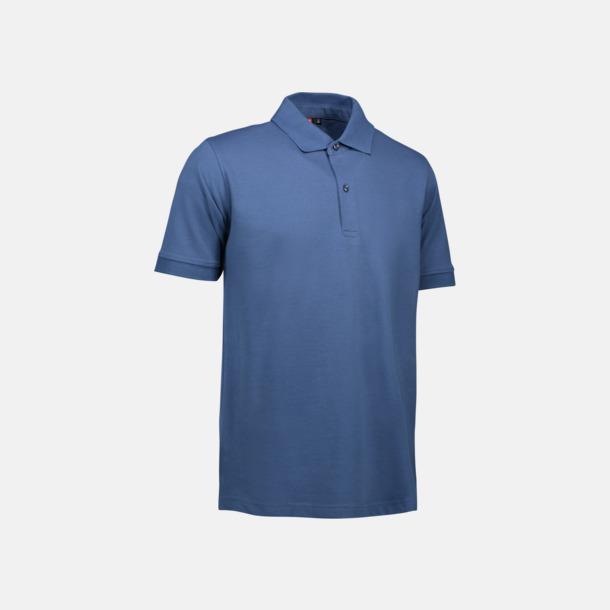Indigo (herr) Pikétröjor för herr & dam med reklamtryck