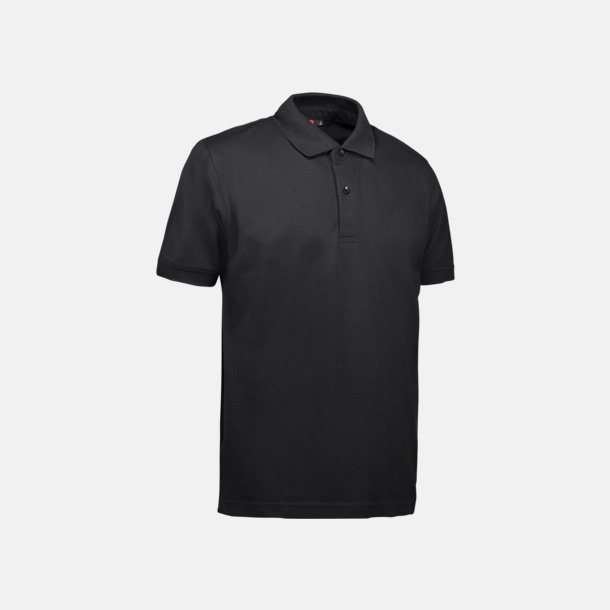 Svart (herr) Pikétröjor för herr & dam med reklamtryck
