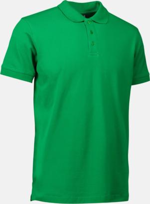 Grön (herr) Stretchiga pikéer med reklamtryck