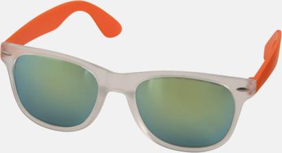 Orange Solglasögon med spegellinser - med reklamtryck
