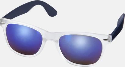 Marinblå Solglasögon med spegellinser - med reklamtryck