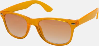 Orange Transparenta solglasögon i färg med matchande glas med eget reklamtryck