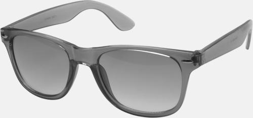 Svart Transparenta solglasögon i färg med matchande glas med eget reklamtryck