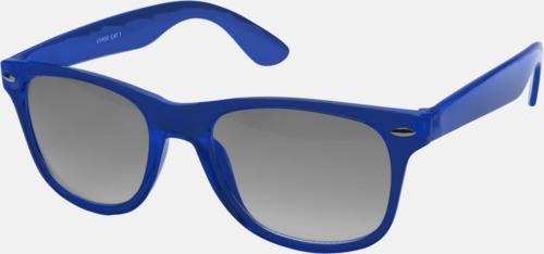 Blå Transparenta solglasögon i färg med matchande glas med eget reklamtryck