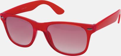 Röd Transparenta solglasögon i färg med matchande glas med eget reklamtryck