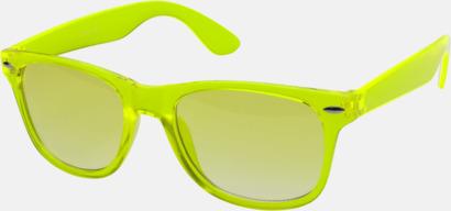 Limegrön Transparenta solglasögon i färg med matchande glas med eget reklamtryck