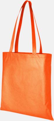 Orange (PMS 1585C) Billiga Non Woven kassar med eget reklamtryck